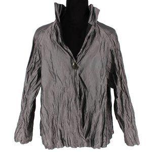 Planet Lauren Grossman Crinkled Jacket Microfiber